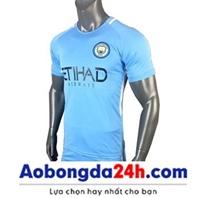 Áo bóng đá Manchester City 2017-2018 sân nhà màu xanh