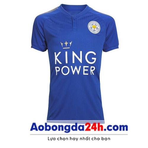 Áo Leicester City 2018 - 2019 sân nhà màu xanh