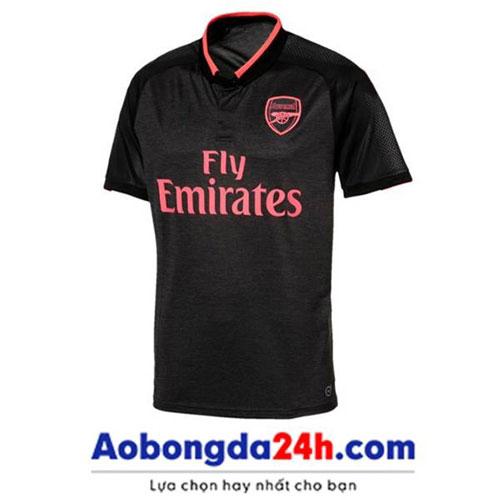 Mẫu áo Arsenal 2017 - 2018 mẫu thứ 3 màu đen