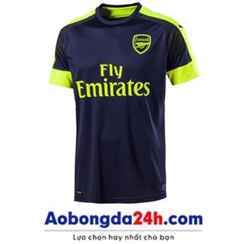 Áo đấu Arsenal 2016-2017 mẫu thứ 3 màu xanh tím than
