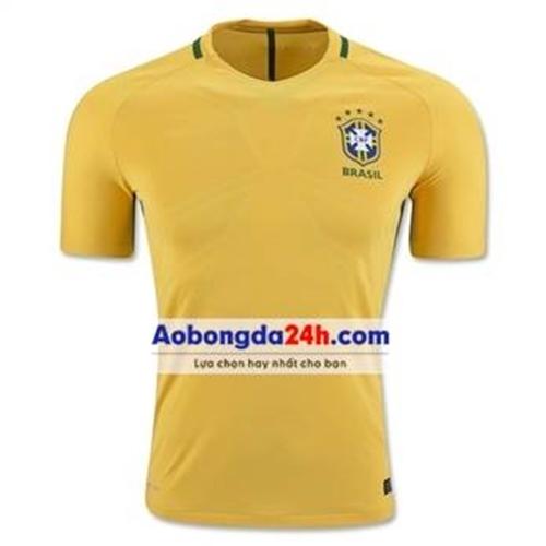 Áo Brazil vàng sân nhà mùa giải 2017 - 2018