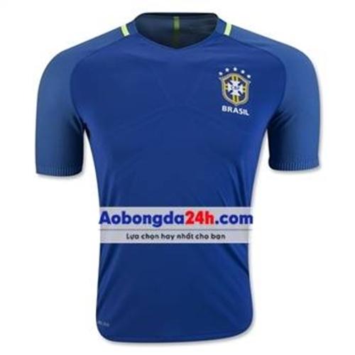 Áo đá bóng Brazil Training 2016 - 2017 màu xanh