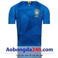 Áo đấu Brazil World Cup 2018 sân khách màu xanh