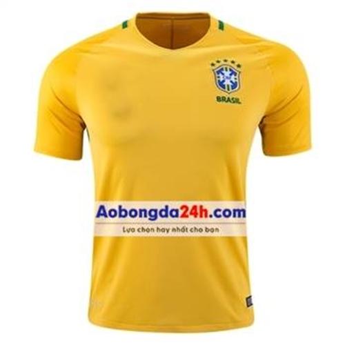 Áo đá banh Brazil 2015-2016 Sân nhà màu vàng