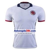 Áo đội tuyển Colombia 2016 màu trắng sân khách