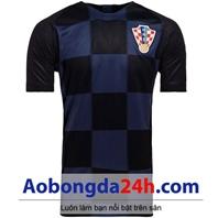 Áo đấu Croatia World cup 2018 sân khách màu xanh đen