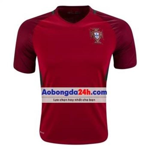 Áo đội tuyển Bồ Đào Nha 2017 sân nhà bã trầu