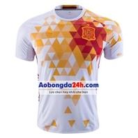 Áo Tây Ban Nha Euro 2016 áo đấu màu trắng