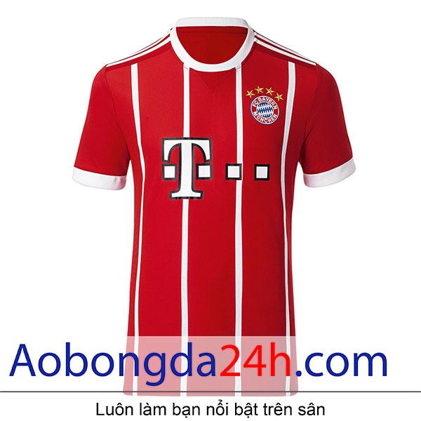 Áo Bayern Munich 2017-2018 sân nhà màu đỏ