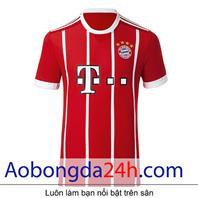 Áo bóng đá Bayern Munich 2017-2018 sân nhà màu đỏ