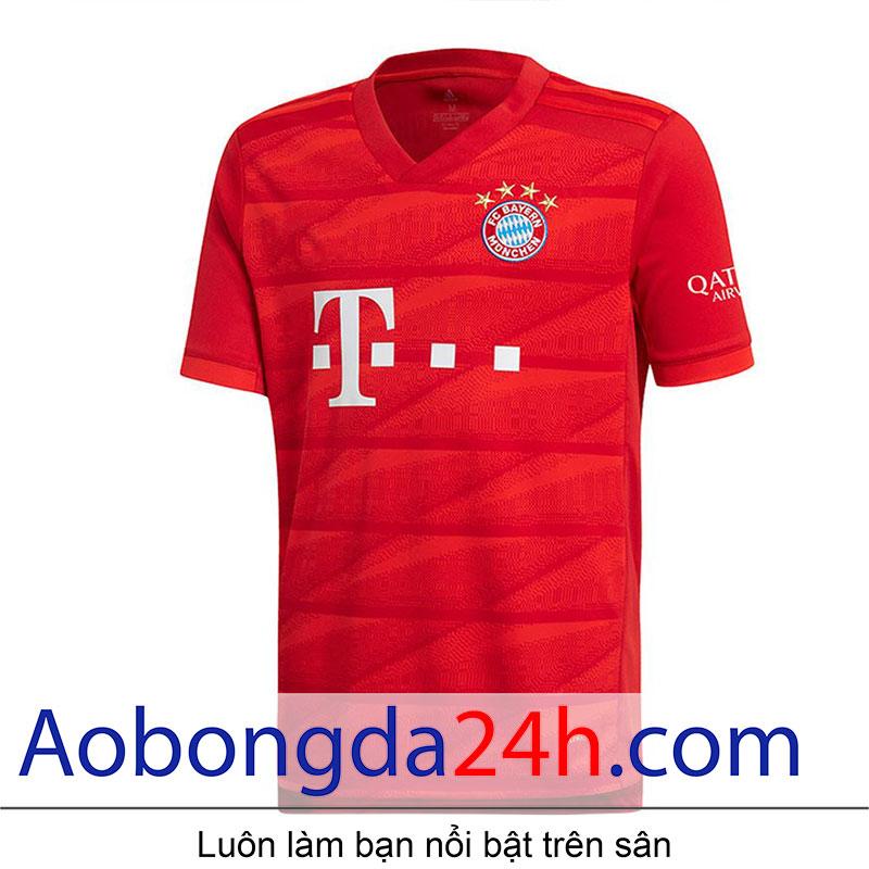 Áo Bayern Munich 2019 - 2020 sân nhà màu đỏ