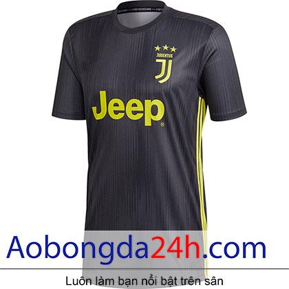 Áo đá banh Juventus 2018-2019 mẫu 3 màu đen