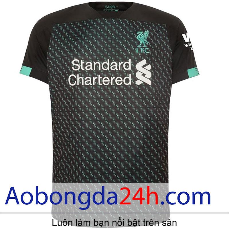 Áo bóng đá Liverpool 2019-2020 mẫu 3 màu đen