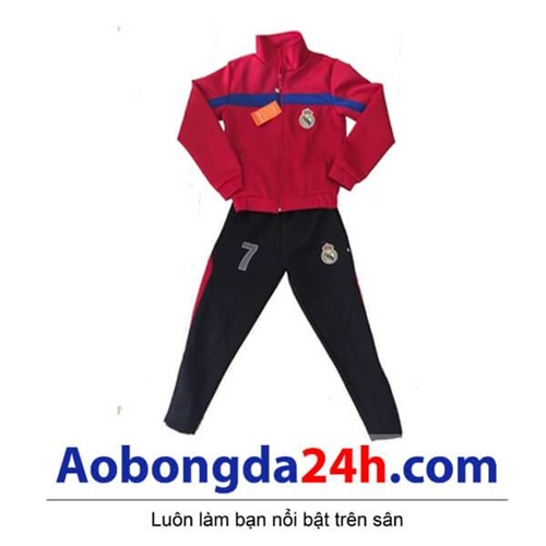 Bộ áo khoác bóng đá trẻ em Real Madrid (Mẫu 01)