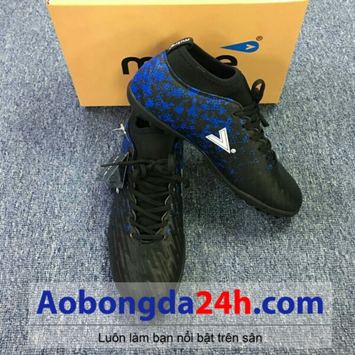Giày đá bóng Mitre 170501 màu xanh đen cổ thun cao