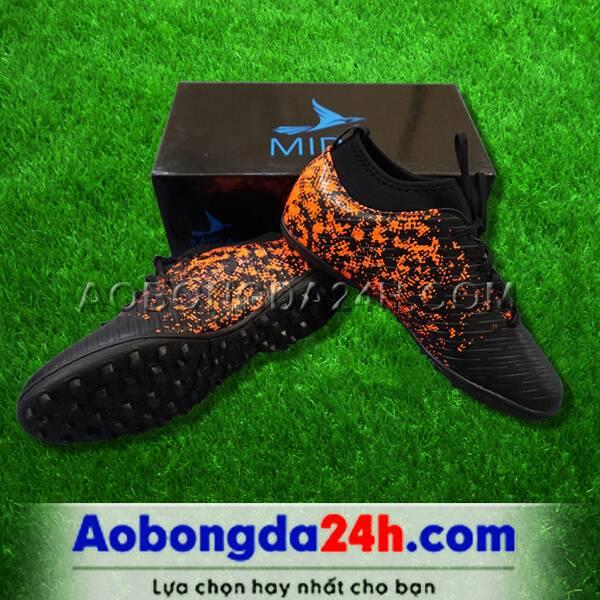 Giày Mira 02 màu đen chính hãng, đinh TF, da PU chống nước