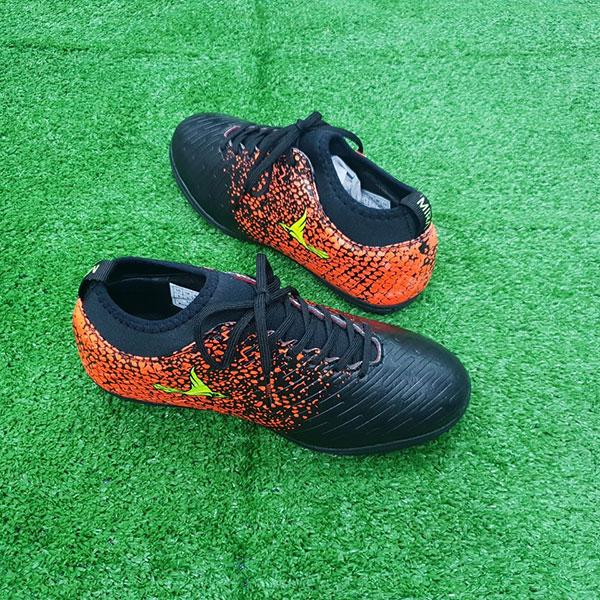 Giày Mira 02 màu đen chính hãng, đinh TF, da PU chống nước-2