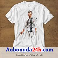 Mẫu áo phông thể thao in hình Ronaldo mẫu 02