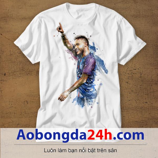 Mẫu áo phông thể thao in hình Neymar mẫu 04