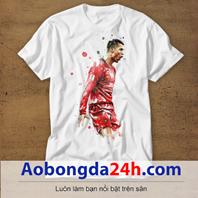 Mẫu áo phông thể thao in hình Ronaldo mẫu 05