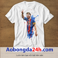 Mẫu áo phông thể thao in hình Messi mẫu 07