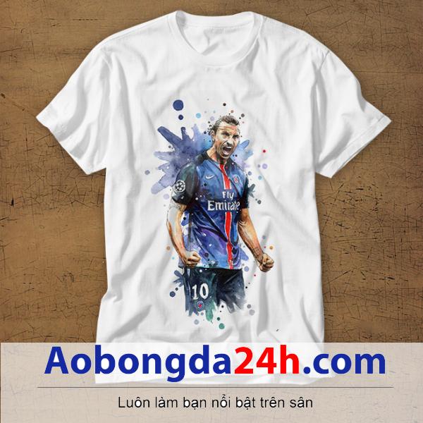 Mẫu áo phông thể thao in hình Ibrahimovic mẫu 09