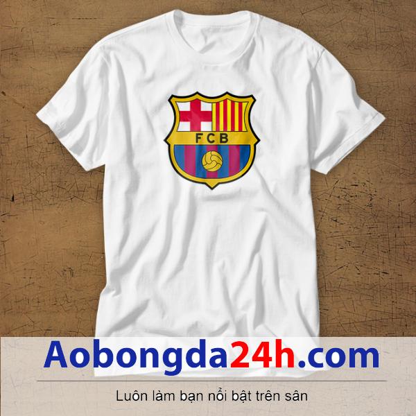 Mẫu áo phông thể thao in hình Barcelona mẫu 19