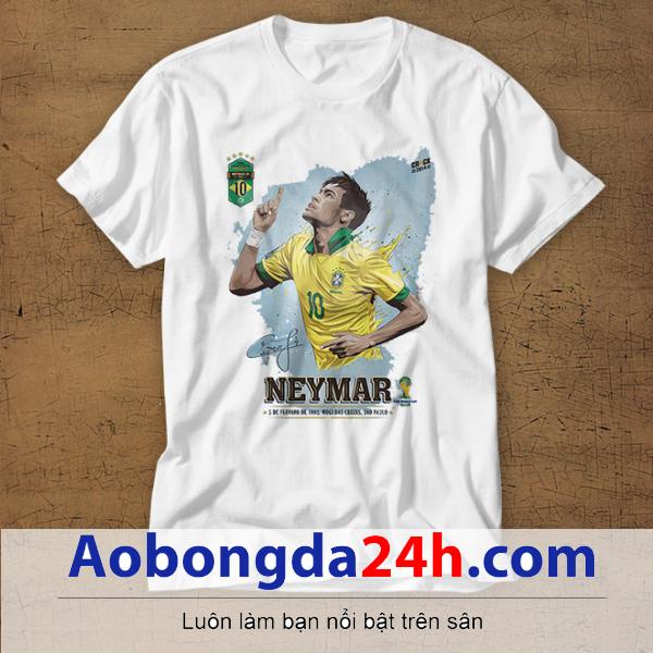 Mẫu áo phông thể thao in hình Neymar mẫu 31