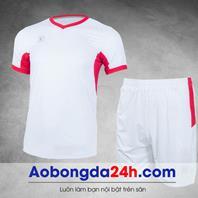 Áo đá bóng không logo Aither mẫu 8 màu trắng