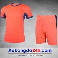 Áo đá bóng không logo Aither mẫu 9 màu cam