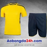 Áo bóng đá không logo KL mẫu 1 màu vàng
