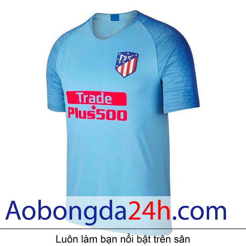 Áo Atletico Madrid 2018-2019 sân khách màu xanh - Mặt trước