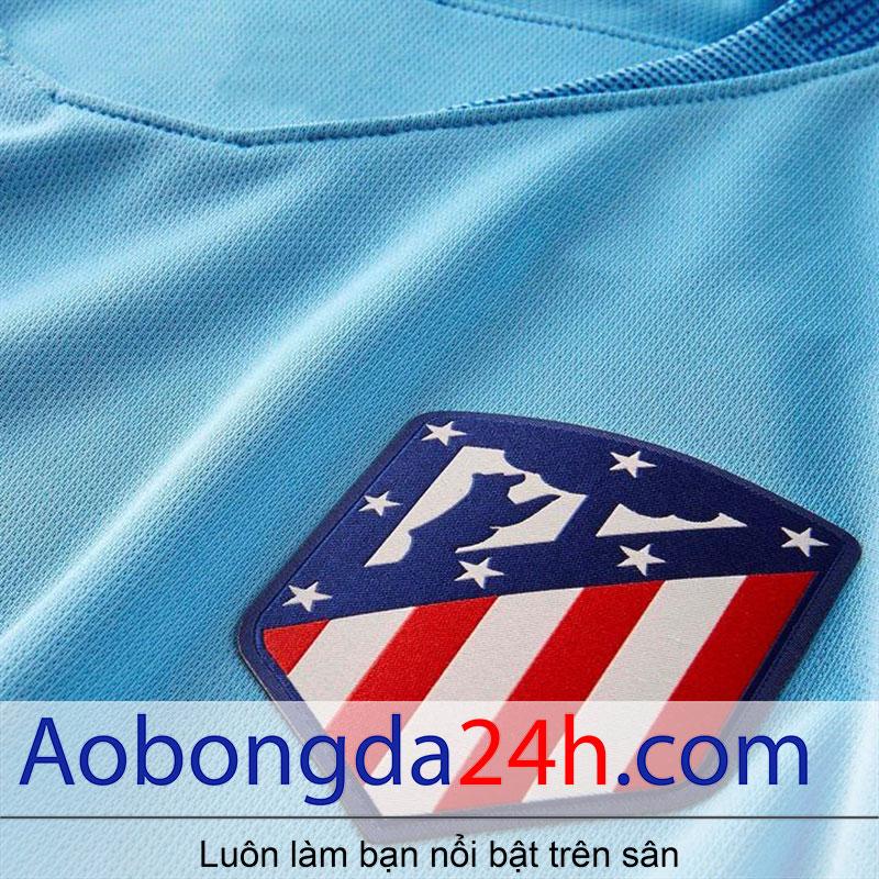 Áo Atletico Madrid 2018-2019 sân khách màu xanh - cờ quốc gia