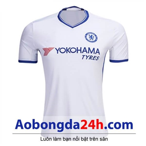Áo CLB Chelsea 2017-2018 sân khách màu trắng