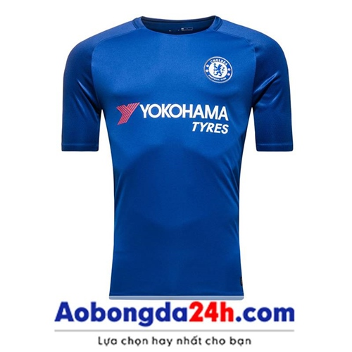 Áo bóng đá Chelsea 2017-2018 sân nhà màu xanh dương