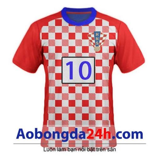 Áo Croatia 2015 áo đấu Caro đỏ trắng