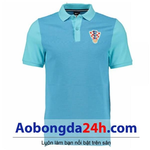 Áo Croatia Euro 2016 mẫu áo tập màu xanh