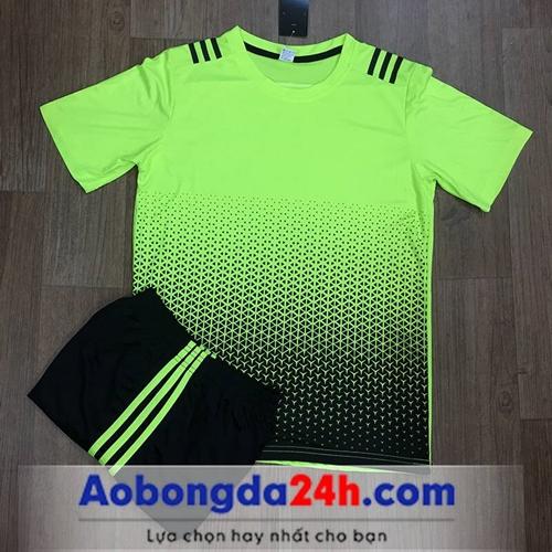 Áo bóng đá không Logo All Black Vàng Chanh