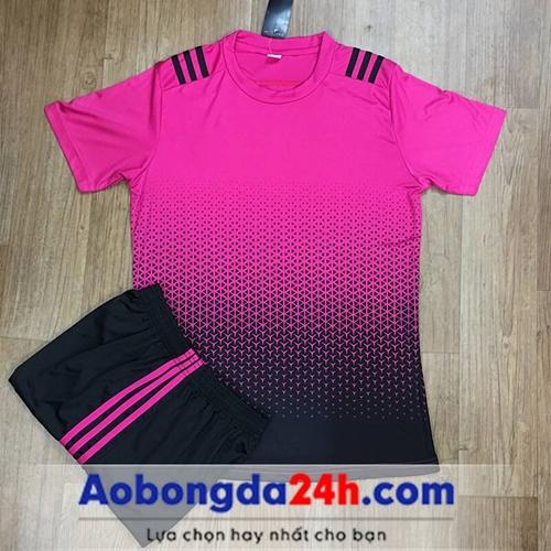 Áo bóng đá không Logo All Black Hồng