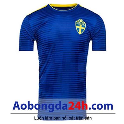 Áo đội tuyển Thụy Điển World Cup 2018 - 2019 màu xanh