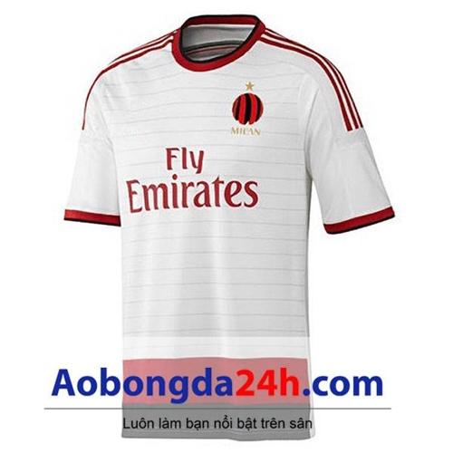 Áo Ac Milan mùa giải 2014-2015 màu trắng
