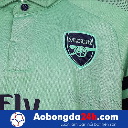 Áo đấu Arsenal 2018-2019 mẫu 3 màu xanh ngọc