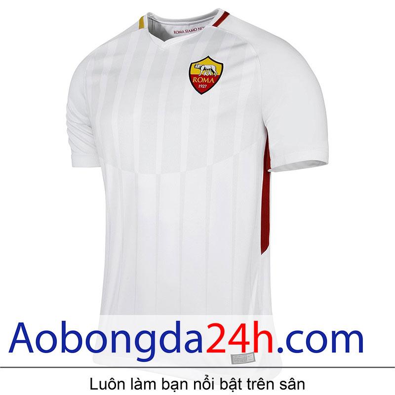 áo bóng đá As roma 2017-2018 sân khách màu trắng - Thân trước
