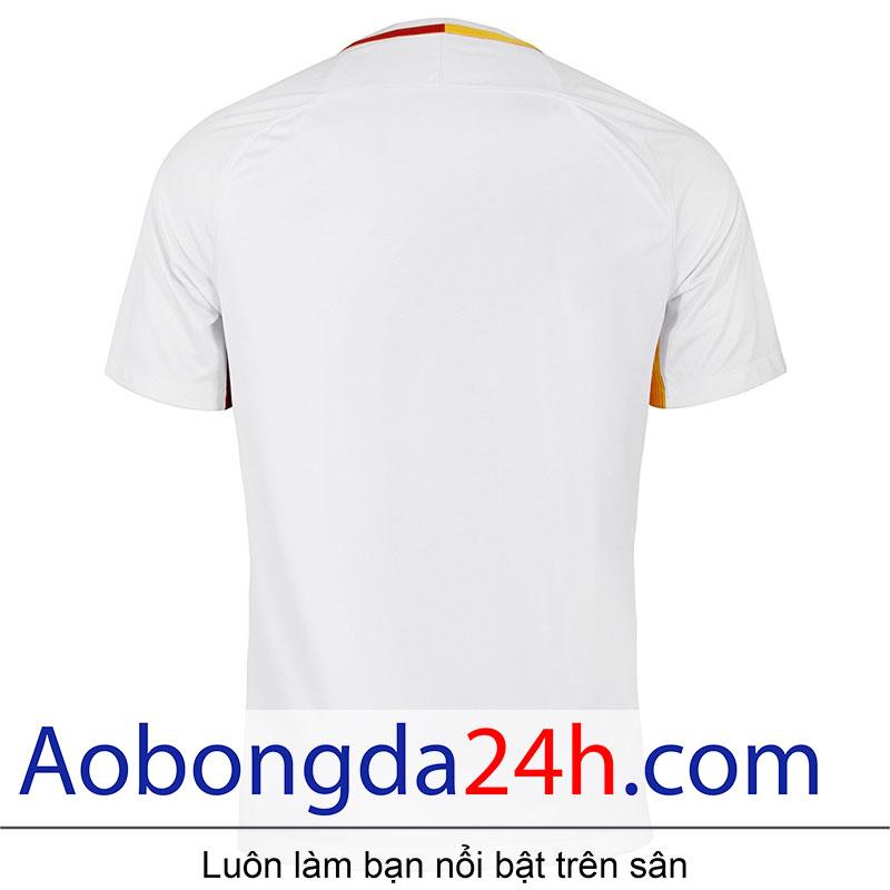 áo bóng đá As roma 2017-2018 sân khách màu trắng - Thân sau