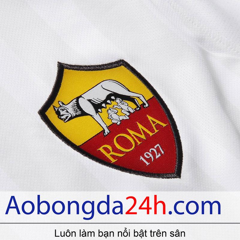 áo bóng đá As roma 2017-2018 sân khách màu trắng - huy hiệu