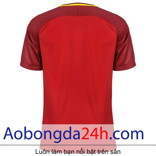 Áo bóng đá As roma 2017-2018 sân nhà màu đỏ - thân sau