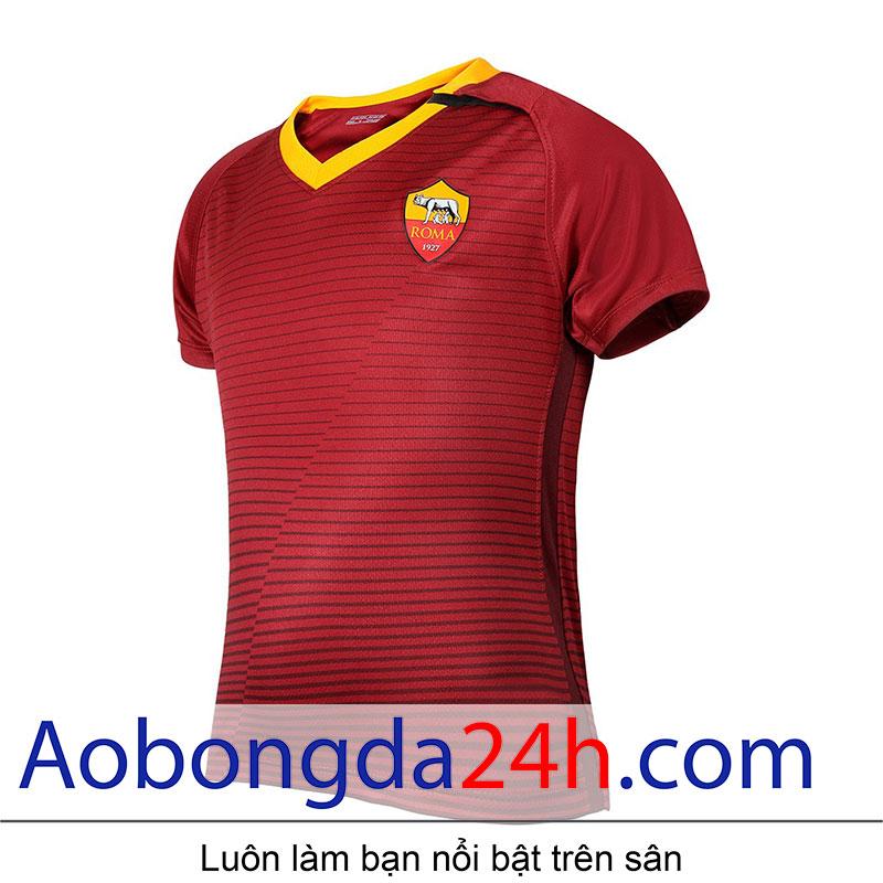 áo bóng đá As roma 2016-2017 sân nhà màu đỏ-thân trước