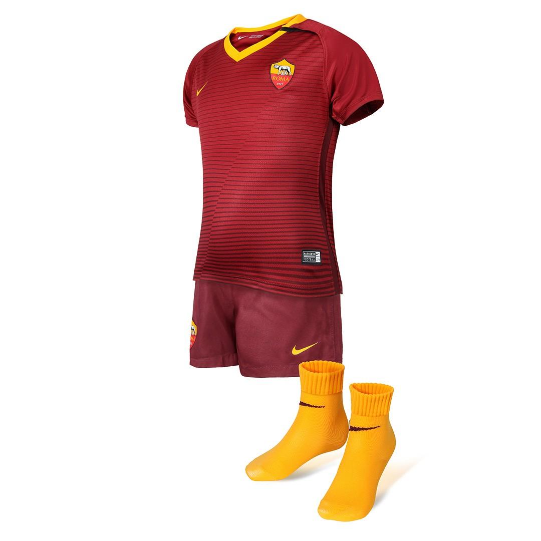 áo bóng đá As roma 2016-2017 sân nhà màu đỏ-bộ