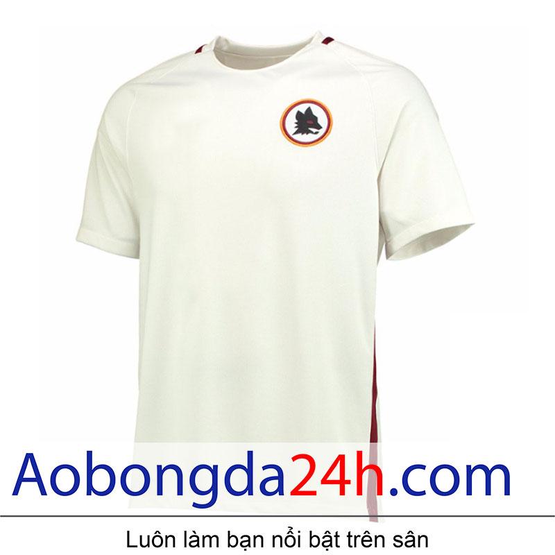 áo bóng đá As roma 2016-2017 sân khách màu trắng