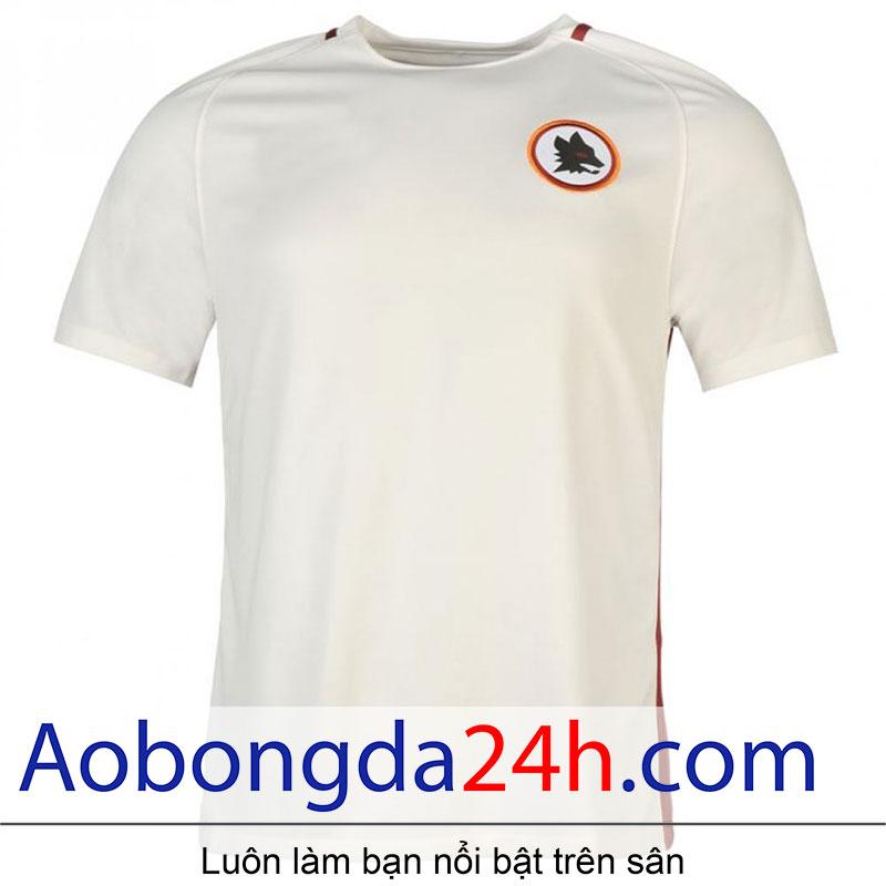 áo bóng đá As roma 2016-2017 sân khách màu trắng-2